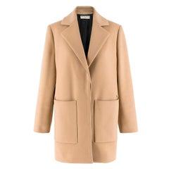 Balenciaga Camel-Brown Wool-Blend Coat US 2