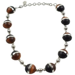 Balenciaga Choker Necklace Chrome and Wood