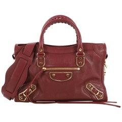 Balenciaga City Classic Metallic Edge Bag Leather Small