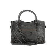 Balenciaga City Classic Studs Bag Leather Mini