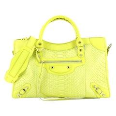 Balenciaga City Classic Studs Bag Python Medium