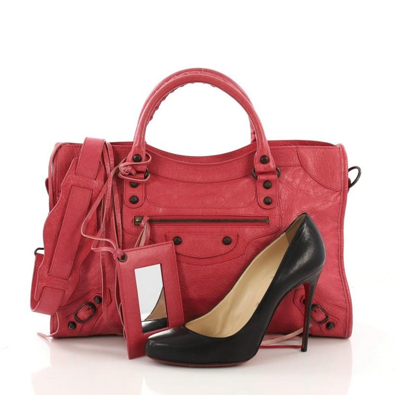 c6ba49366c Balenciaga City Classic Studs Handbag Leather Medium at 1stdibs