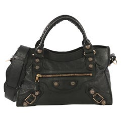 Balenciaga City Giant Studs Bag Leather Medium