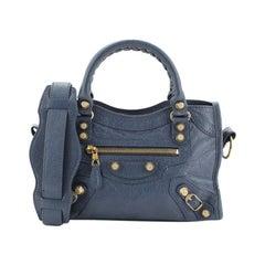 Balenciaga City Giant Studs Bag Leather Mini
