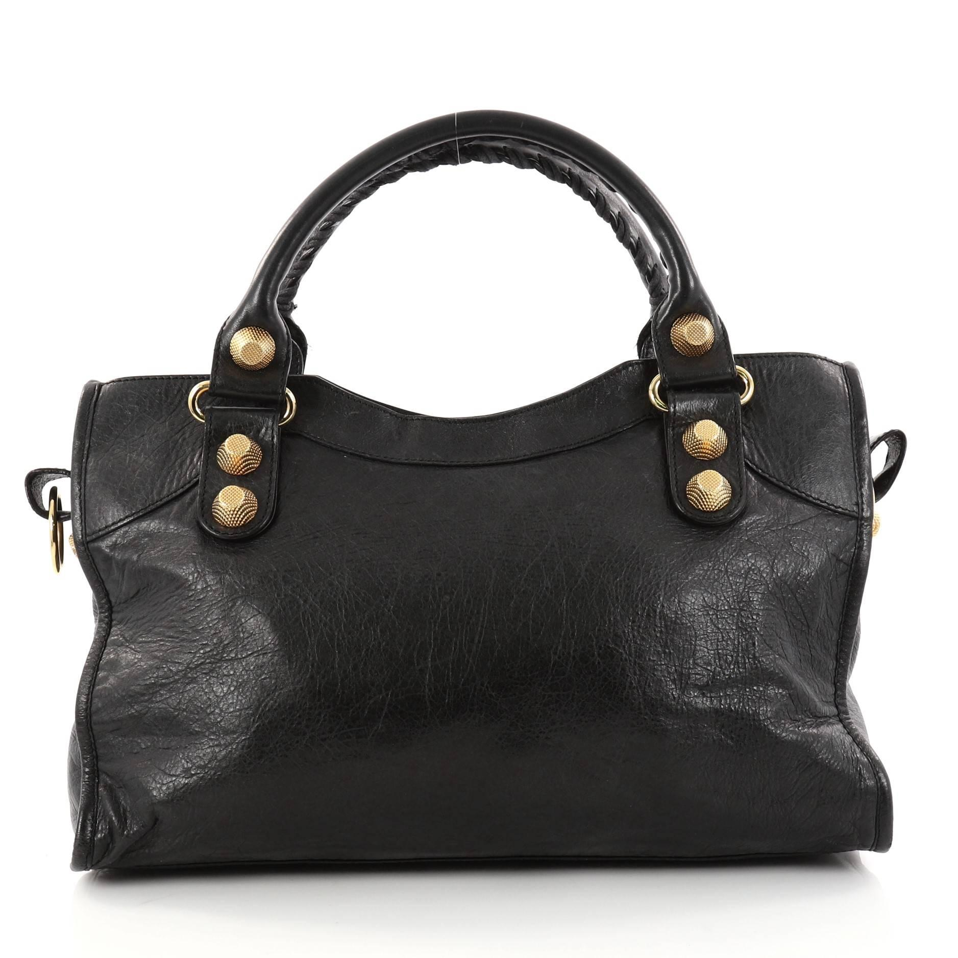 Balenciaga Bal58 Top Handle Bag Leather WbNuhW