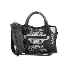 Balenciaga City Graffiti Classic Studs Bag Leather Mini