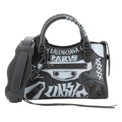 Balenciaga City Graffiti Classic Studs Bag Leather Mini