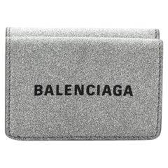 Balenciaga Coin Wallet Glitter Leather