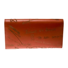 Balenciaga Copper Leather Valentine's Day Essential Continental Wallet
