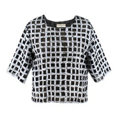 Balenciaga Crackled Check Top  IT 40
