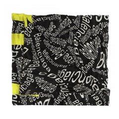 Balenciaga Curved Logo Typo Cropped Black Scarf Foulards Neckerchief (576157)