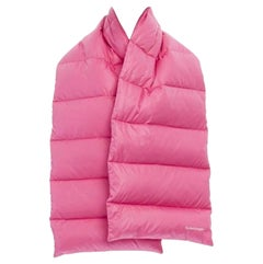 BALENCIAGA DEMNA 2016 pink down filled padded quilted scarf