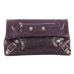 Balenciaga Envelope Clutch Giant Studs Leather