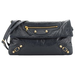 Balenciaga Envelope Strap Clutch Giant Studs Leather