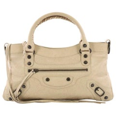 Balenciaga First Giant Studs Handbag Leather