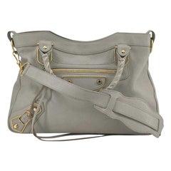BALENCIAGA First Shoulder bag in Beige Leather