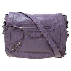 Balenciaga Glycine Agneau Leather Giant 12 Neo Folk Messenger Bag