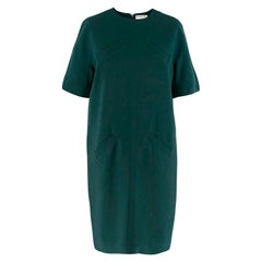 Balenciaga Green Oversized Shift Dress w/ Pockets - Size US 6