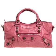 Balenciaga Grenadine Leather GGH Part Time Tote