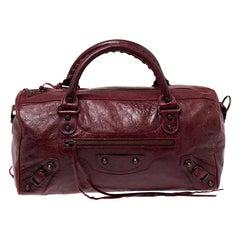 Balenciaga Grenat Leather RH Twiggy Satchel