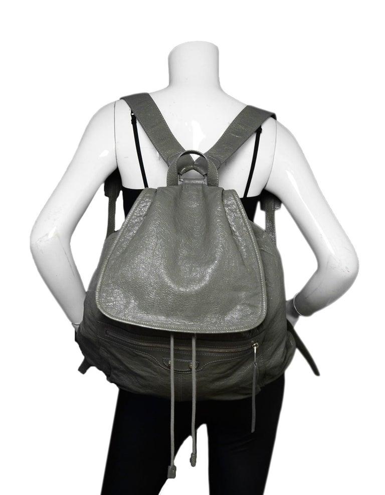 76558e055062b1 Balenciaga Grey Agneau Leather Classic Traveler S Backpack Bag rt $1,615  Made In: Italy Color