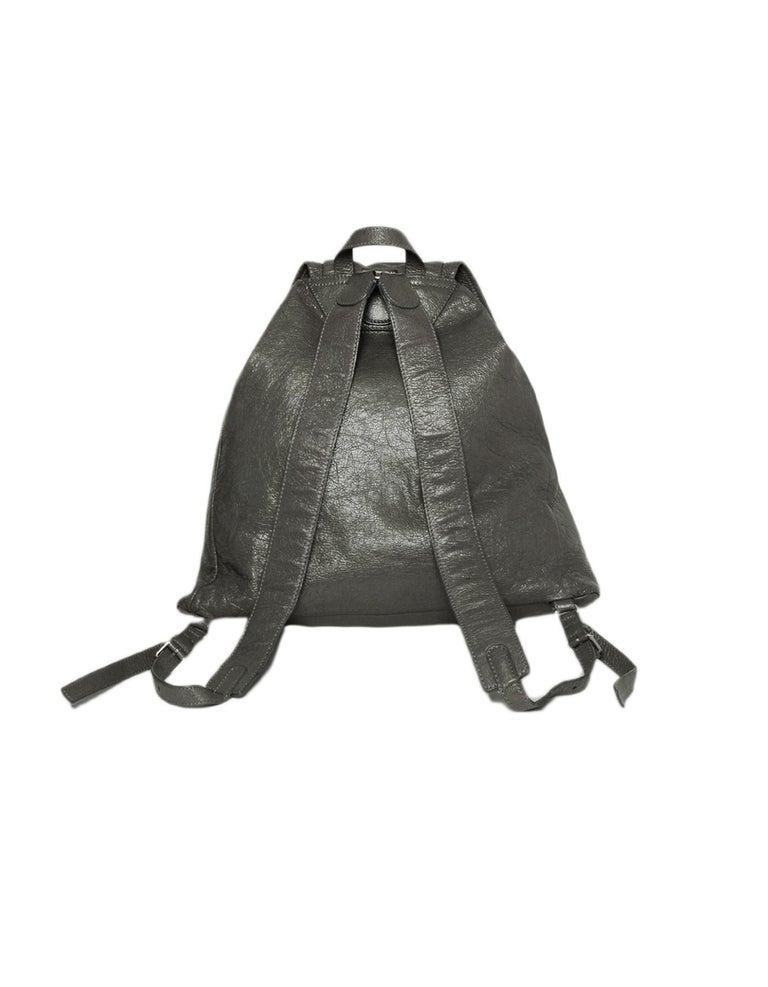 d079f041f9ed26 Gray Balenciaga Grey Agneau Leather Classic Traveler S Backpack Bag rt  $1,615 For Sale