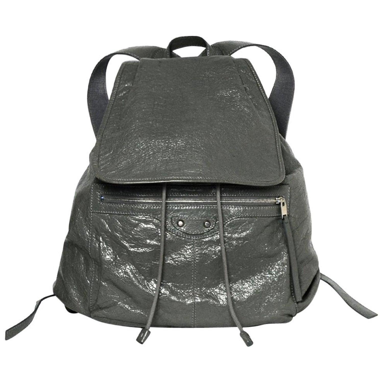 54dfa3ec86534e Balenciaga Grey Agneau Leather Classic Traveler S Backpack Bag rt $1,615  For Sale at 1stdibs