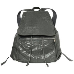 Balenciaga Grey Agneau Leather Classic Traveler S Backpack Bag rt $1,615