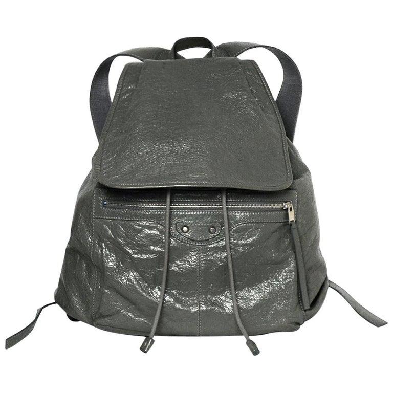 7bc0bbac8c2c78 Balenciaga Grey Agneau Leather Classic Traveler S Backpack Bag rt $1,615  For Sale