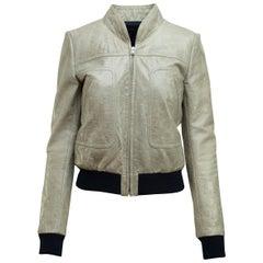 Balenciaga Grey Leather Jacket