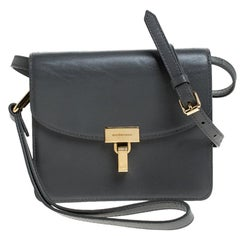 Balenciaga Grey Leather Lock AJ Crossbody Bag