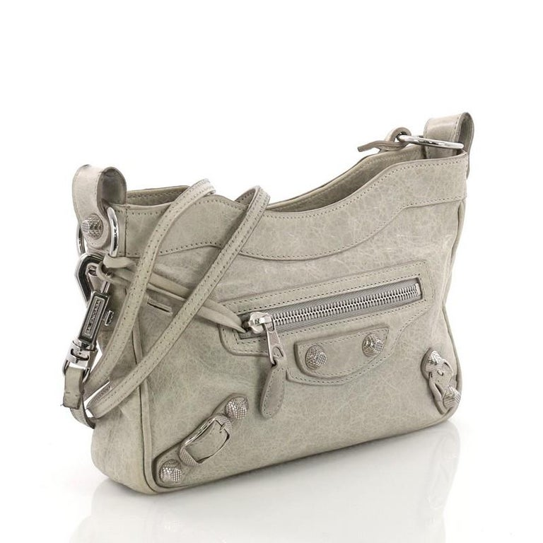 90084410d5b05 Balenciaga Hip Classic Studs Crossbody Bag Leather at 1stdibs