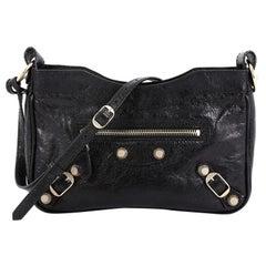 Balenciaga Hip Giant Studs Crossbody Bag Leather