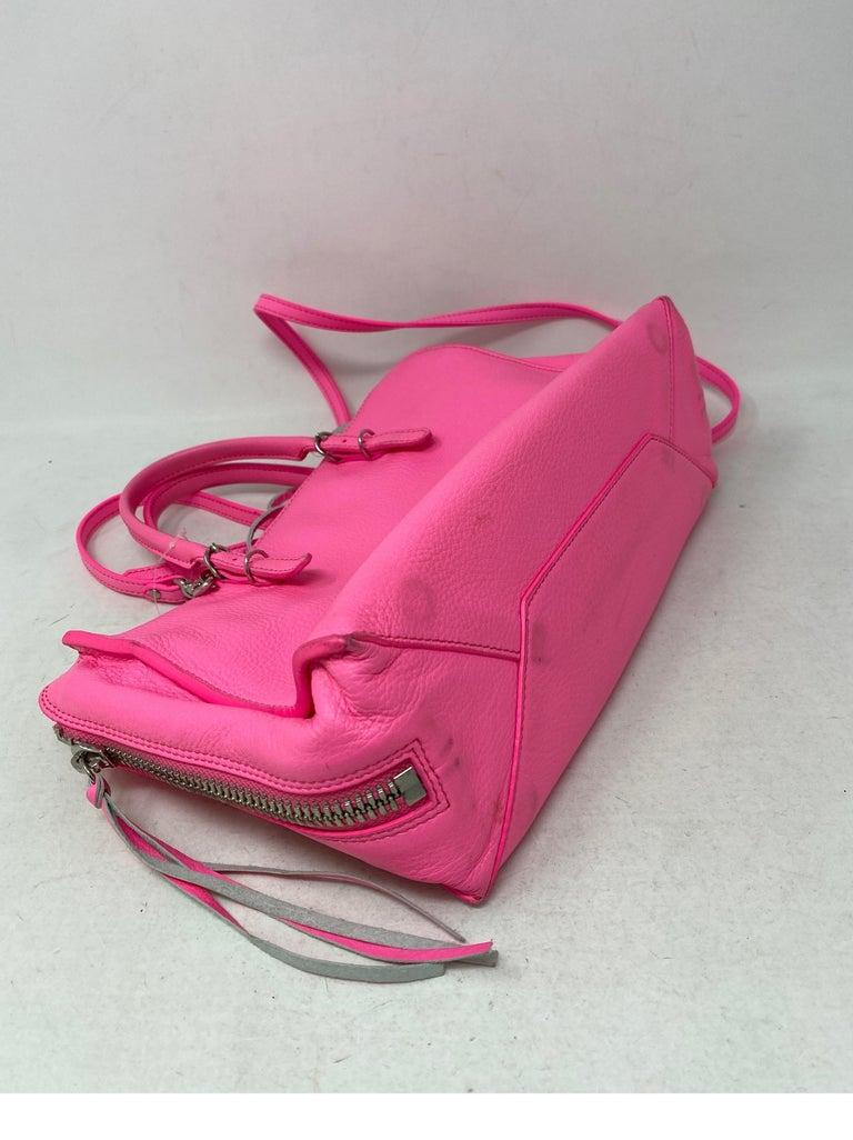 Balenciaga Hot Pink Mini Motorcyle Bag  For Sale 7