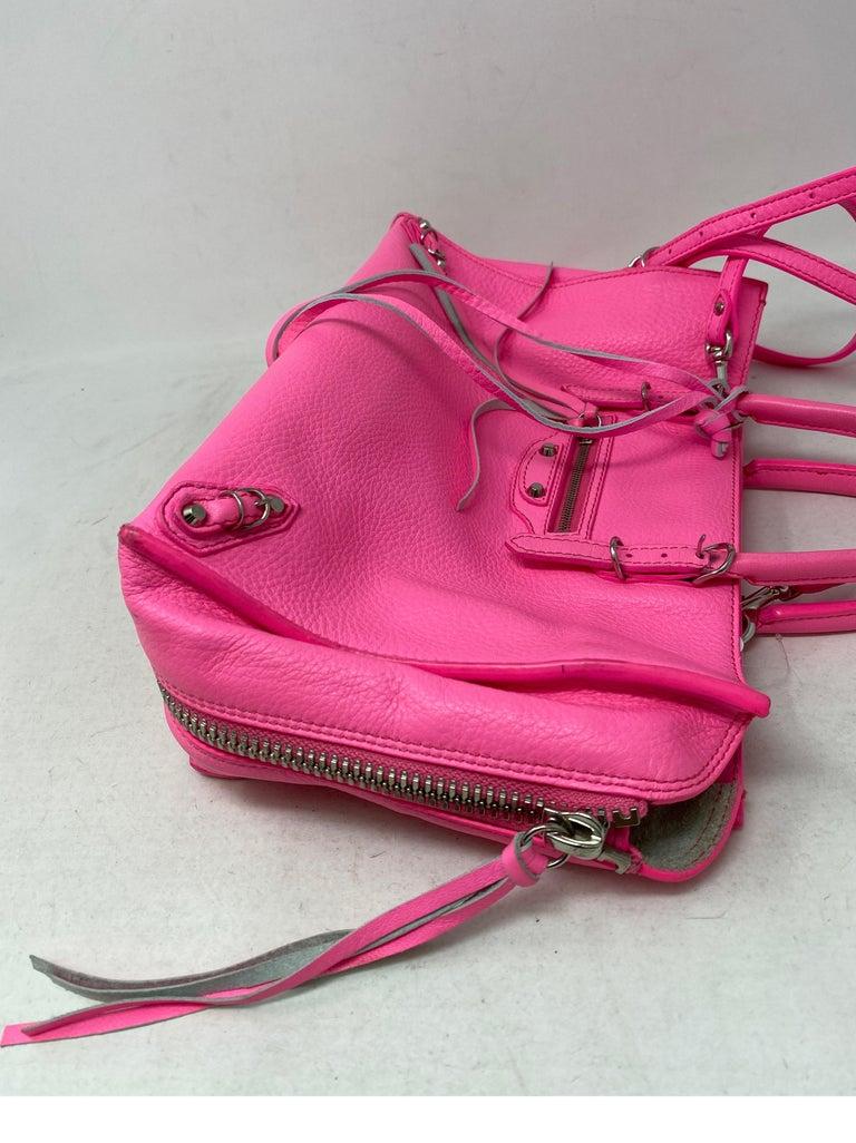 Balenciaga Hot Pink Mini Motorcyle Bag  For Sale 8