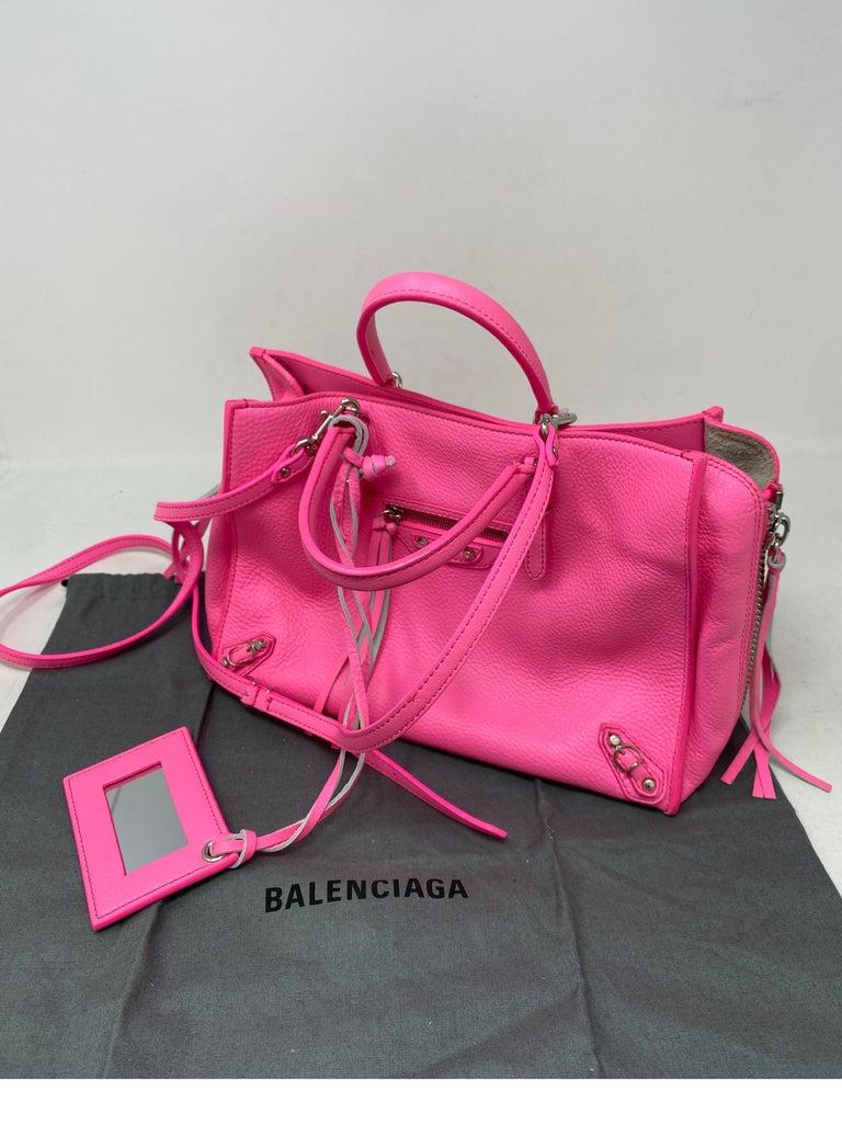 Balenciaga Hot Pink Mini Motorcyle Bag  For Sale 9