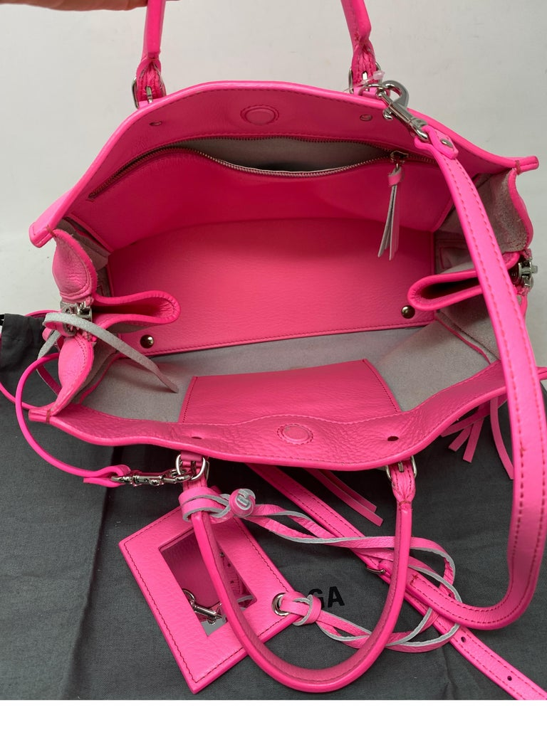 Balenciaga Hot Pink Mini Motorcyle Bag  For Sale 10