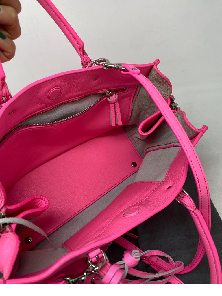 Balenciaga Hot Pink Mini Motorcyle Bag  For Sale 11