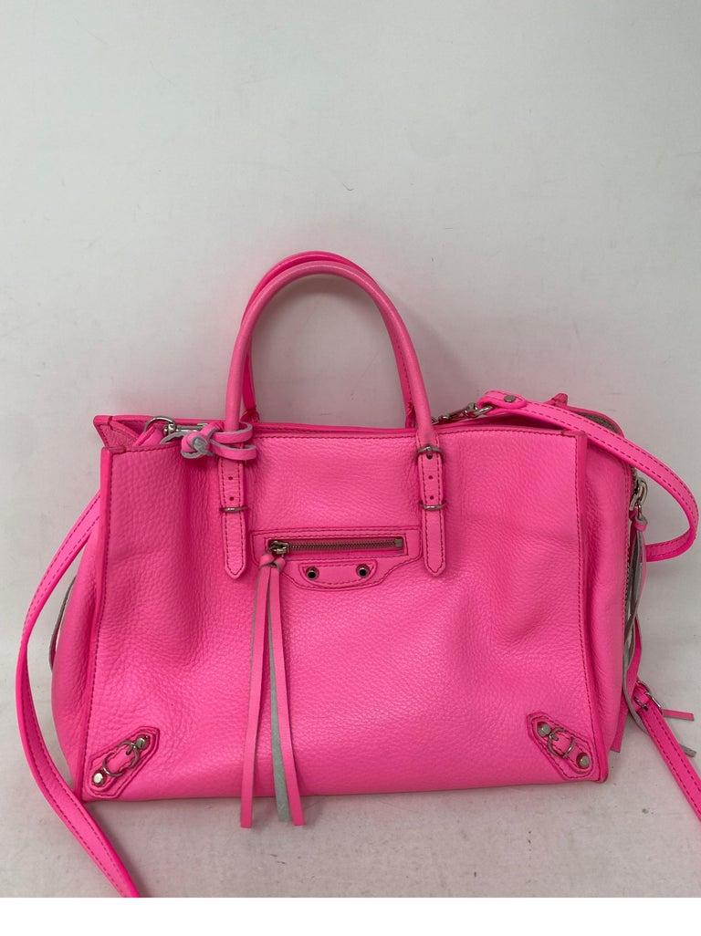 Balenciaga Hot Pink Mini Motorcyle Bag  In Fair Condition For Sale In Athens, GA