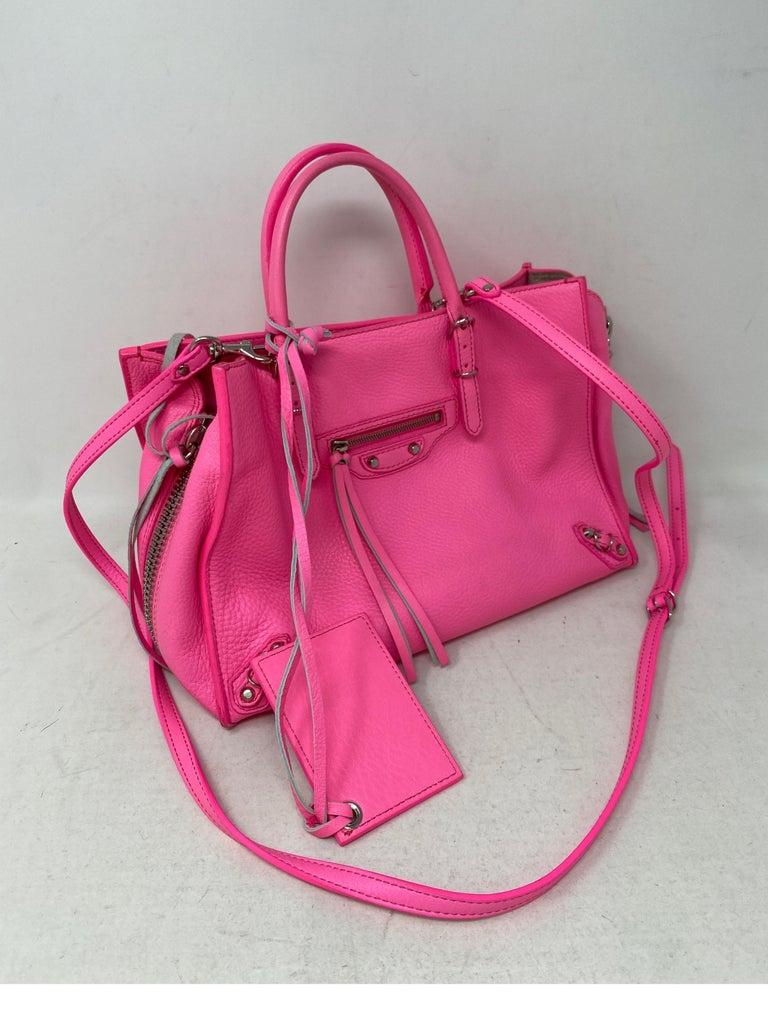 Women's or Men's Balenciaga Hot Pink Mini Motorcyle Bag  For Sale