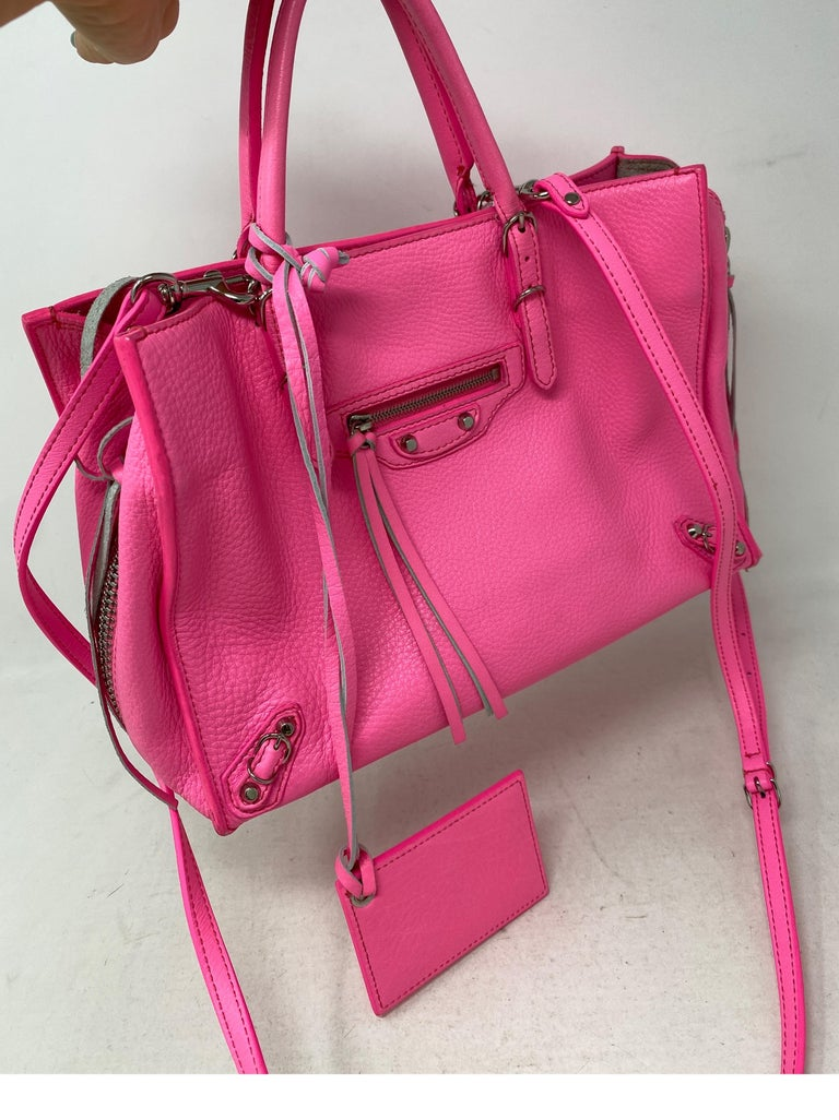Balenciaga Hot Pink Mini Motorcyle Bag  For Sale 1