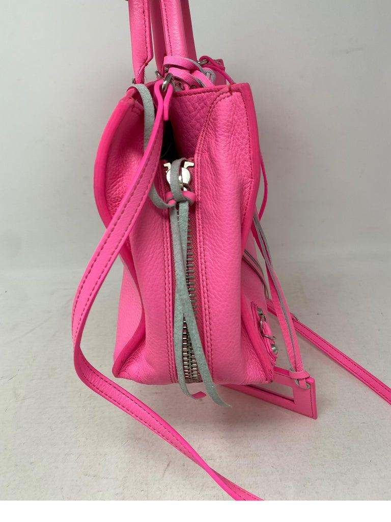 Balenciaga Hot Pink Mini Motorcyle Bag  For Sale 2
