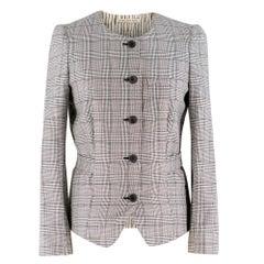Balenciaga Houndstooth Belted Jacket - Size US 4