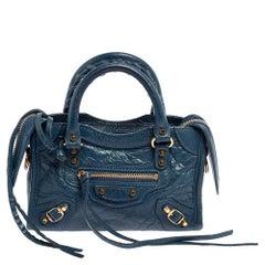 Balenciaga Indigo Leather Mini Classic City Bag
