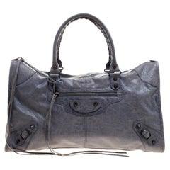 Balenciaga Jacinthe Leather Classic RH Work Tote