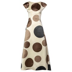 Balenciaga Josephus Thimister Runway Silk Polka Dot Evening Dress, 1997