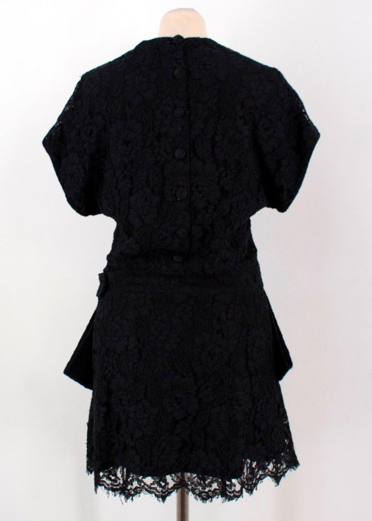 Balenciaga Lace Little Black Dress US 6 In Good Condition For Sale In London, GB