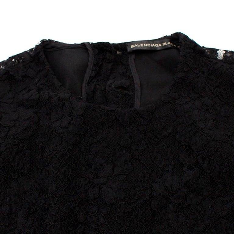 Women's Balenciaga Lace Little Black Dress US 6 For Sale