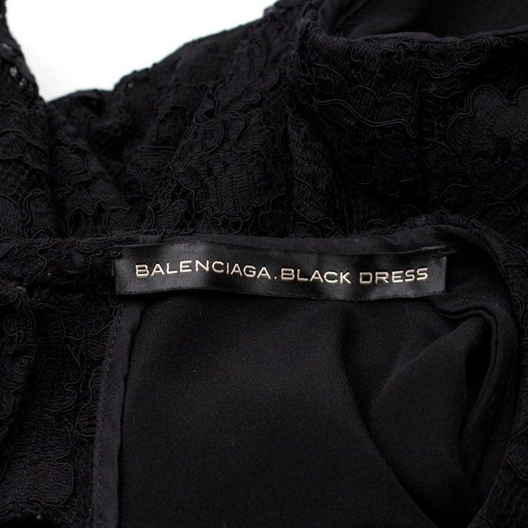 Balenciaga Lace Little Black Dress US 6 For Sale 1
