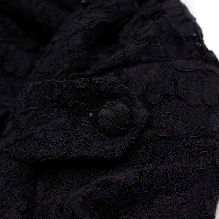 Balenciaga Lace Little Black Dress US 6 For Sale 3